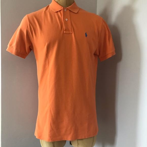 c96255a8f67 POLO Ralph Lauren Orange Polo T-Shirt Men s Sz M